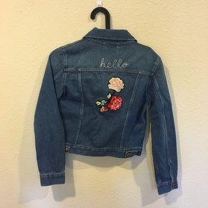 Wrangler Jackets & Coats - NWT Wrangler jean hello floral jacket
